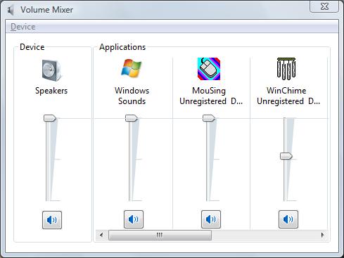 volume mixer screenshot