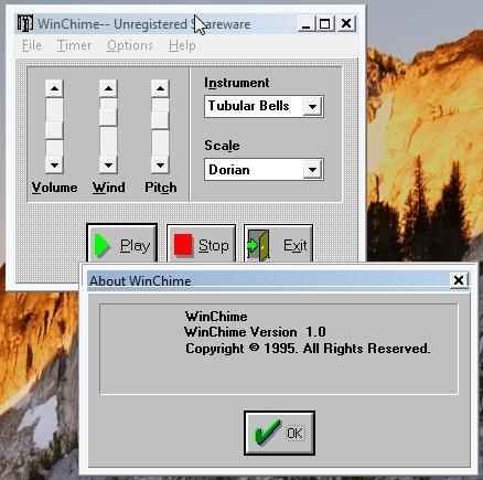 WinChime 1.0 screen shot
